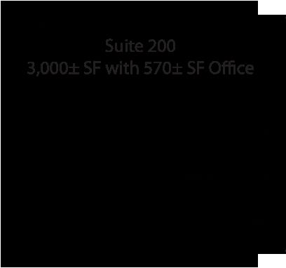 Building 200, Suite 200 Floorplan Labeled 08-05-15